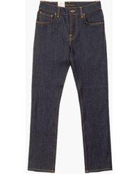 Nudie Jeans Grim Tim Dry True Navy 12.75oz - Blue