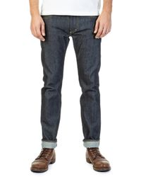 Lee Jeans - Rider Jeans Slim Dry Indigo Selvage 14oz - Lyst