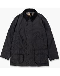 Barbour Bristol Wax Jacket Navy - Blue