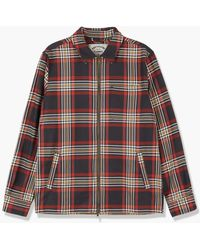 Portuguese Flannel Sofa Zipper Shirt Jacket - Multicolour