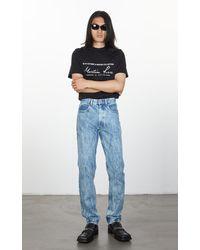Martine Rose Straight Leg Jeans Acid Blue