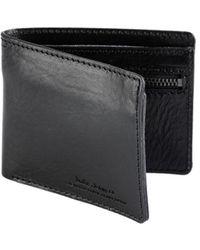 Nudie Jeans Callesson Leather Wallet Black