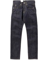 Edwin Ed-55 63 Rainbow Selvage Indigo Unwashed 12.8oz - Blue