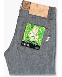 Naked & Famous Super Guy Mr. Poopy Butthole Ohh Wee Selvedge 9oz Indigo/chambray - Blue