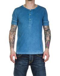 Merz B. Schwanen - 207 Button Facing Shirt 1/4 Natural Indigo - Lyst