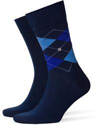 Burlington Everyday 2-pack Men Socks Dark Navy - Blue