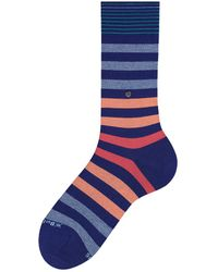 Burlington Blackpool Socks Dark Blue/orange