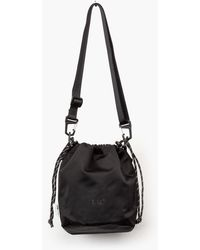 F/CE Satin Drawstring Bag Black
