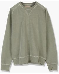 Nigel Cabourn Embroidered Arrow Crew Army - Green