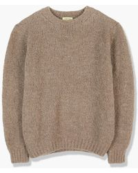 De Bonne Facture Pecora Nera Wool Knit Taupe - Brown