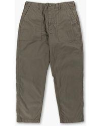 Engineered Garments Fatigue Pant Herringbone Twill Olive - Green
