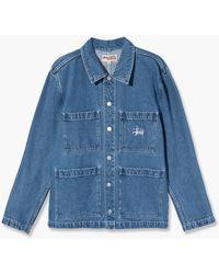 Stussy Denim Chore Jacket Blue