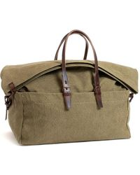Bleu De Chauffe Cabine Travel Bag Khaki Stonewashed - Green