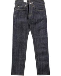 Edwin Ed-55 Red Listed Selvage Denim Unwashed 14oz - Blue