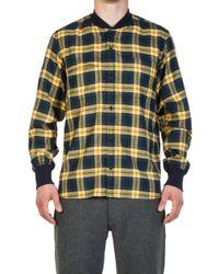 Universal Works - Sport Shirt Himalaya Check Gold/navy - Lyst