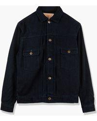 Japan Blue Jeans J382922 Sashiko Type 2 Jacket Indigo - Blue