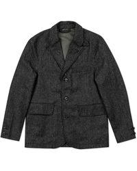 Nigel Cabourn Army Blazer Herringbone Tweed Charcoal - Gray