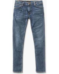 Nudie Jeans - Skinny Lin Dark Blue Navy - Lyst