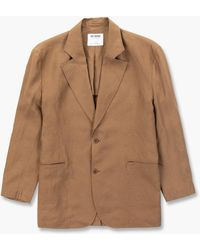 Hed Mayner Single Breasted Jacket Cinnamon Linen - Brown