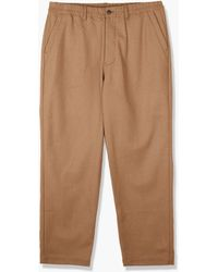 Still By Hand Washed Melton Wool Trousers Camel - Brown