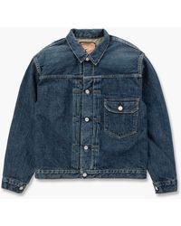 Orslow Pleated Front Blouse 1 Year Wash Indigo - Blue