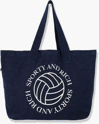 Sporty & Rich Volleyball Tote Navy - Blue