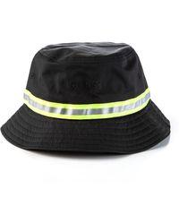 Stussy - Reflective Tape Bucket Hat Black - Lyst