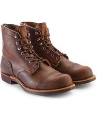 Red Wing 8085d Iron Ranger Copper Rough & Tough - Brown