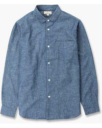 Japan Blue Jeans Banana Cotton Chambray Shirt - Blue