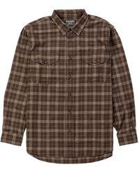 Filson Lightweight Alaskan Guide Shirt Brown/taupe Heather Plaid