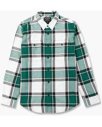 Filson Scout Shirt White/green/black Plaid