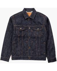 Japan Blue Jeans Cote D'voire Denim Jacket Selvedge Indigo 13.5oz - Blue