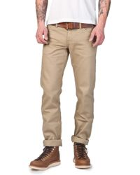 The Unbranded Brand Unbranded Ub107 Skinny Fit Chino Selvage Beige 13oz - Natural