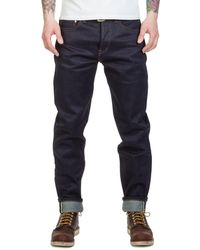 The Unbranded Brand Ub621 Relaxed Tapered Fit Indigo Selvedge 21oz - Blue