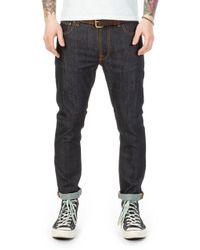 Nudie Jeans - Lean Dean Dry Tonal Ecru 12oz - Lyst