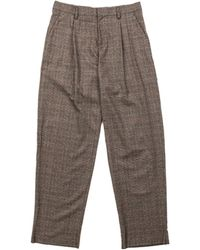 Kolor Trousers C-brown Glencheck