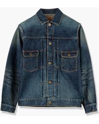 Japan Blue Jeans Cote D'voire Denim Type 2 Jacket Selvedge Faded Indigo 16.5oz - Blue