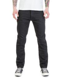 Nudie Jeans - Nudie Jeans Fearless Freddie Dry Black Yd 12.5oz - Lyst