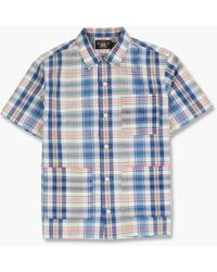 RRL - Wayne Camp Shirt Rustic Madras Cream/multi - Lyst