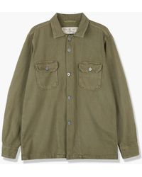 Rogue Territory Infantry Shirt Olive Overdyed - Green