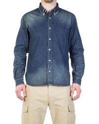 Japan Blue Jeans Jbsa05 Pw Military Shirt Bd Shirt Indigo - Blue