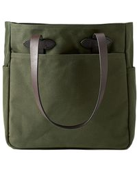 Filson Tote Bag With Zipper Otter Green
