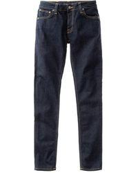 Nudie Jeans Skinny Lin Deep Orange L32 - Blue