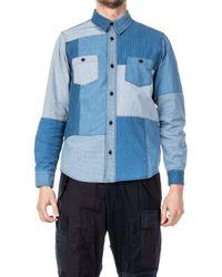 FDMTL - Boro Patchwork Shirt 2-years Wash Indigo - Lyst