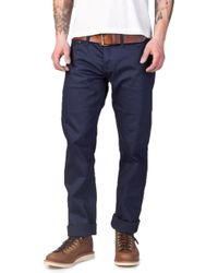 The Unbranded Brand Unbranded Ub208 Tapered Fit Chino Selvage Navy 13oz - Blue