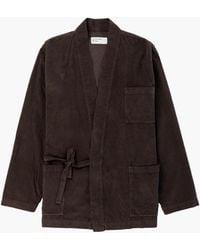 Universal Works Kyoto Work Jacket Fine Cord Chocolate - Brown