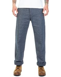 Japan Blue Jeans - Jb7055 Brooklyn Trousers Covert Stripe Navy - Lyst