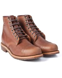 Chippewa Boots - Chippewa Homestead Boots Toe Cap Brown Pebbled - Lyst