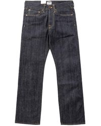 Edwin Ed-47 Red Listed Selvage Denim Unwashed 14oz - Blue