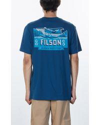 Filson Ranger Graphic T-shirt Marine Blue Plane